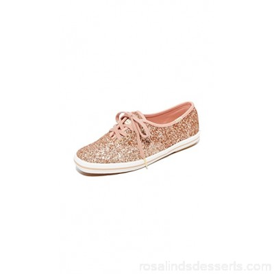 Keds Women x Kate Spade New York Glitter Sneakers Rose Gold KEDSS20001 KCGAJHG