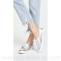 Keds Women x Kate Spade New York Sneakers Silver Leather Cowhide KEDSS20004 NFQOIMD