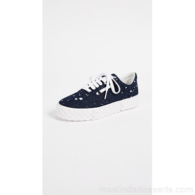 KENDALL + KYLIE Women Reign Lace Up Sneakers Navy/White KENDA30454 WWSKMNB