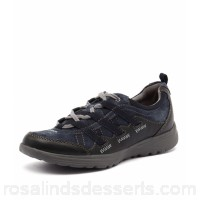 PLANET Women kazz pl navy leather Lace up closure Durable sole with grip PL10062-DBY-LE ZEVKQPE