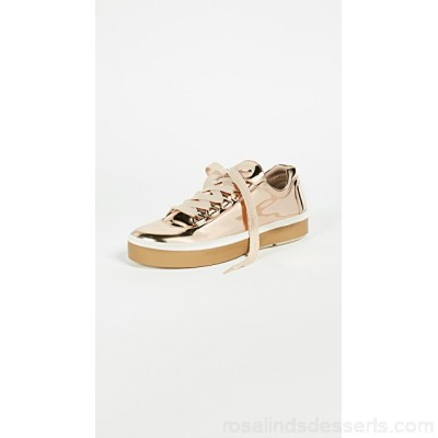 Stuart Weitzman Women Gaming Sneakers Beige Fabric Faux leather STUAR20828 TQHDTYX