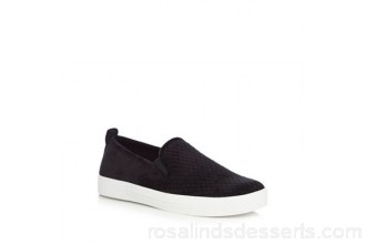 Women Call It Spring - Black suedette 'Fiamma' slip-on trainers Slip-on Upper textile MUYGYBL