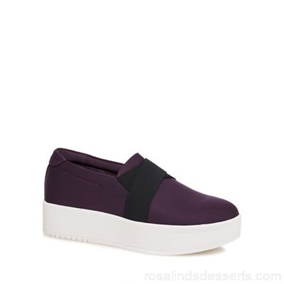 Women Call It Spring - Purple 'Traredda' flatform slip-on trainers Heel height 3.5cm / 1.4 inches Outer textile LIUVDMU