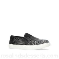 Women Carvela - Jamie flat slip on sneakers Heel height Less than 2.1cm/0.82 inches Material suedette MQECQIF