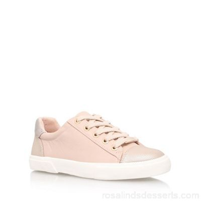 Women Carvela - Pink 'Light' flat lace up sneakers Upper Synthetic Lining Fabric / Synthetic JUSJDMD
