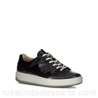 Women Ecco - Black patent leather 'Soft 9' trainers Lace fastening Heel height 3.5cm/1.4inches ZJUCCSZ