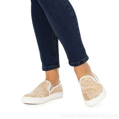 Women Faith - Light pink 'King' slip-on trainers Upper textile Lining textile CXYTWQZ