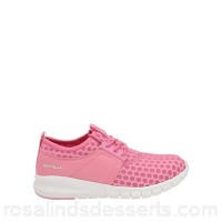 Women Gola - Pink/white 'Salinas' ladies lace up trainers Fastening lace Fit standard MGYOZPY
