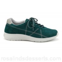 Women Hotter - Dark green 'Solar' lace-up trainers Extra-long laces for adjustability Padded collar and tongue BNPJSGG
