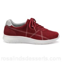 Women Hotter - Dark red 'Solar' lace-up trainers Extra-long laces for adjustability Padded collar and tongue NSLHCBN