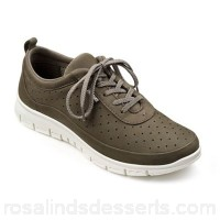 Women Hotter - Fawn suede 'Gravity' lace up trainers Perfect for everyday activities Easy rear pull tab ZRANAMN