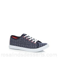 Women Mantaray - Navy canvas 'Marie' trainers Upper textile / man made materials Lining textile LMEXAGG