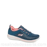 Women Skechers - Navy 'Burst 2.0 Sunny Side' trainers Upper Textile / man made materials Lining Textile EXQAFKV