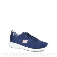 Women Skechers - Navy 'Ultra Flex - First Choice' lace up trainers Upper textile Lining textile WOYULMS