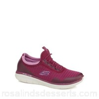 Women Skechers - Purple 'Synergy 2.0 Mirror Image' slip-on trainers Upper Textile / man made materials Lining Textile ZRXMPKC