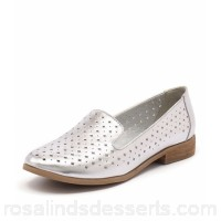 I LOVE BILLY Women quill silver smooth Decorative perforated upper IL10359-SIL-SM AOWBSCT