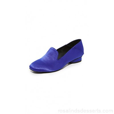 Jeffrey Campbell Women Symphony Step Down Loafers Blue JEFFC40589 QRAROHP