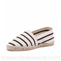 LA MAISON DE L'ESPADRILLE Women 310 ecru marine linen There is no right foot or left foot - this espadrille is designed to take the shape of each foot LM10001-NPX-QG RBZQQUR
