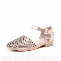 MOLLINI Women quaver rose gold metallic leather Buckled ankle strap Closed back and toe design MO10278-M63-AB JZLNNLQ