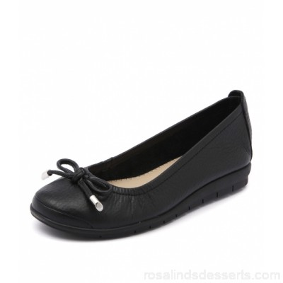 SUPERSOFT Women flex black leather SU10013-BLA-LE TXFVMJQ