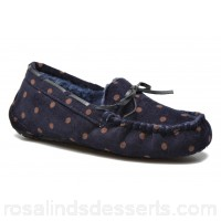 Ruby Brown Mae Womens Slippers Fall/Winter Navy 0.5 cm 125238 JOVTHRQ