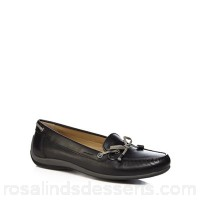 Women Geox - Black 'Yuki' slip on moccasins Upper Man made materials leather Lining Leather QXKCHYX