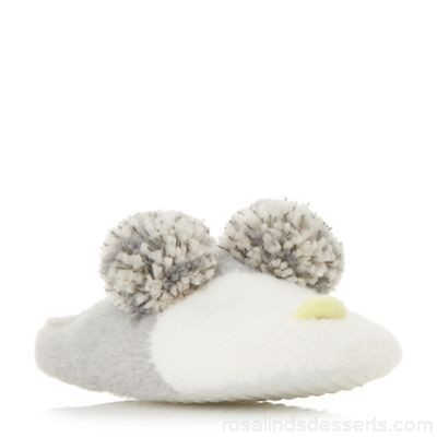 Women Head Over Heels by Dune - Multicoloured 'Fraan' owl pom pom slippers Heel height flats Upper fabric UTRHBDO