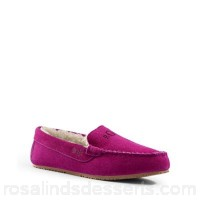 Women Lands' End - Pink moccasin slippers Cosy moccasin slippers Hand-sewn whipstitch detailing IFCQZFQ