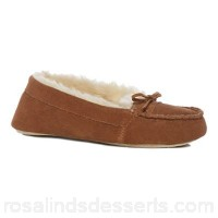 Women Lounge & Sleep - Brown suede moccasin slippers Soft sole Upper Suede IHPPUGL