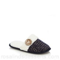 Women Lounge & Sleep - Navy knitted mule slippers Upper textile Lining textile WMIWTTC