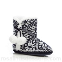 Women Lounge & Sleep - Navy 'slipper boots Upper textile Lining textile WJBDMUK
