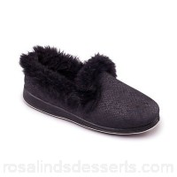 Women Padders - Black 'Luxury' women's memory foam slippers Heel height 30mm Upper microsuede RHZIDJI