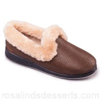 Women Padders - Bronze 'Luxury' women's memory foam slippers Heel height 30mm Upper microsuede EECJGUA