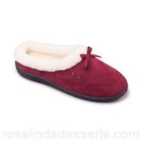 Women Padders - Dark Red 'Snug' women's memory foam slippers Heel height 30mm Fit ee QNBYCHG