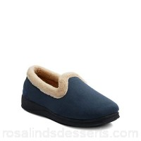 Women Padders - Navy 'Repose' womens memory foam slippers Heel height 3cm/1.20
