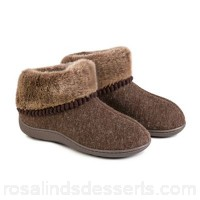 Women Totes - Brown fine knit 'Pillowstep' slipper boots Hard sole - unsuitable for outdoor wear Upper Textile YKEPXLF
