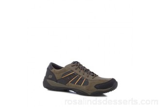 Men Skechers - Khaki 'Larson Nerick' trainers Upper Suede man made materials Lining Textile VXGWUKO