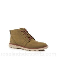 Men Caterpillar - Khaki leather 'Trey' chukka boots Upper Leather Lining Textile GVBGCUS