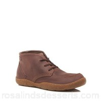 Men Hush Puppies - Brown leather 'Finnian Sway' chukka boots Upper Leather Lining Leather RTEXZDT