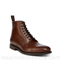 Men Loake - Brown leather 'Hyde' military boots Upper Leather Lining Leather RMPPMDO