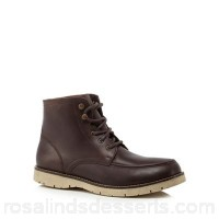 Men Mantaray - Dark brown leather 'Minsk' lace up boots Upper Leather Lining Leather textile TPOCFKP