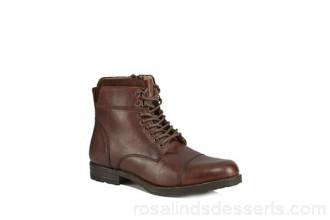 Men Red Herring - Brown leather 'Jovian' lace-up boots Lace fastening Upper Leather DBVXITF