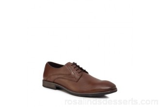 Men Hush Puppies - Brown leather 'Carlos Luganda' Derby shoes Upper Leather Lining Textile / man made materials XYTMHPF