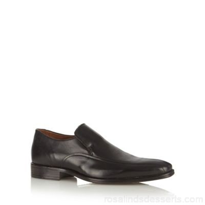 Men Jeff Banks - Black leather slip on shoes Upper Leather Lining Leather man made materials WKFCDNL