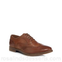 Men Red Herring - Tan leather brogues Upper leather Lining man made materials VINZOJH