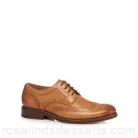 Men RJR.John Rocha - Tan 'Dazzler' leather brogues Upper Leather Lining Leather textile CCBHTCS