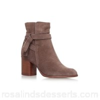 Women Carvela - Brown 'Sleepy' high heel ankle boots Upper Suede Lining Synthetic ATNOARU