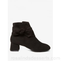 Women Dorothy Perkins - Wide fit black alba bow boots  ZXBSCZV