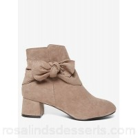Women Dorothy Perkins - Wide fit taupe alba bow boots  LANLADP