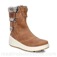 Women Ecco - Brown noyce outdoor mid/high-cut boots High cut multistrap Removeable insole BTYUFWP